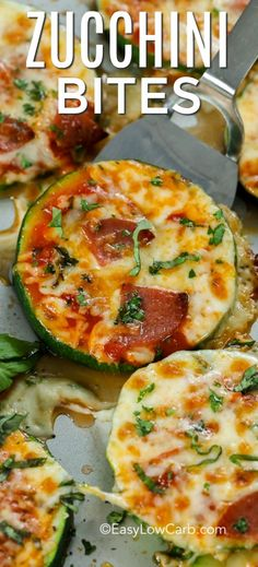 Zucchini Pizza Bites are one of our favorite snacks! These delicious pizza bites are topped with our favorite toppings and plenty of cheese for the perfect low carb pizza. Garlic white sauce, not tomato. Low Carb Recipes, Diet Recipes, Vegetarian Recipes, Cooking Recipes, Healthy Recipes, Snacks Recipes, Shrimp Recipes, Pizza Recipes, Easy Recipes