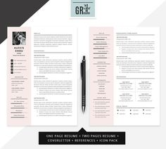 This template is fully editable and easy to customize in Microsoft Word Anything in template can be removed if it's not necessary in your resume. You can also move and duplicate anything in the template. Don't like the original colors? You can also create your own color palette Cover Letter For Resume, Cover Letter Template, Letter Templates, Resume Action Words, Resume Words Skills, College Resume Template, Cv Resume Template, Business Resume, Resume Cv