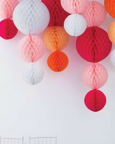 honey comb hanging balls