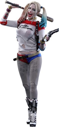 Suicide Squad Harley Quinn by Hot Toys, Sideshow has an exclusive with Harley's hammer.