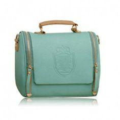 Vintage Style Solid Color and PU Leather Design Women's Tote Bag, LIGHT GREEN in Shoulder Bags   DressLily.com