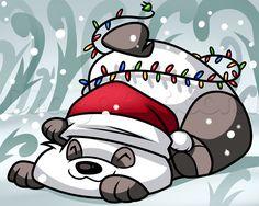 how to draw a christmas panda