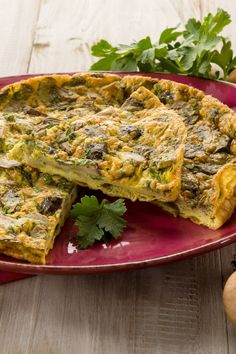 Crustless Spinach and Mushroom Quiche (Weight Watchers)