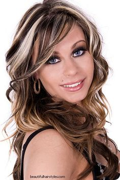 Dark Brown with Blonde highlights - I want this color