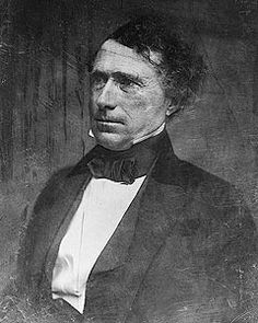 Portrait photo of Franklin Pierce the 14th president of the United States 1853 to 1857.