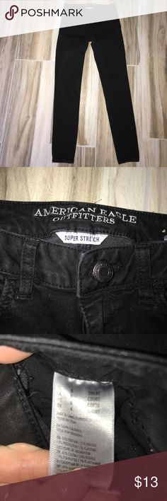 AE black jeggings New condition super stretch jeggings size 0 short American Eagle Outfitters Pants Skinny