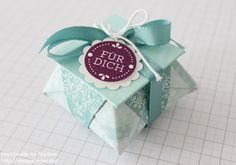 Stampin Up Anleitung Tutorial Origami Box Schachtel Verpackung Star Box 001