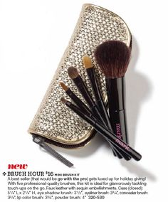 brush hour - this best seller gets luxed up in this shimmer case!