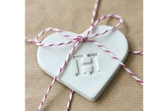 Custom Monogram Heart Ornament by b Heart Ornament, Monogram, Gift Wrapping, Christmas Ornaments, Holiday Decor, Mothers, Gifts, Design, Gift Wrapping Paper