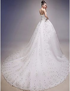 Ball Gown Wedding Dress Floor-length Strapless