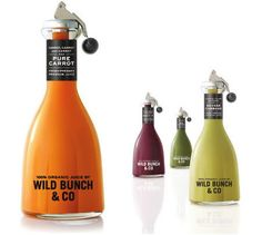 Wild Bunch & Co Organic Cold-Pressed Vegetable Juice takes a clean approach to packaging. #RetailPackaging #Design