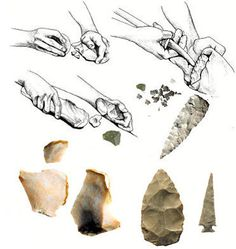 """Primitive Skills 2015 Makers Demonstration of """"stone age"""" technology, including flintknapping and making cordage from native plants. NoVa Mini Maker Faire"""