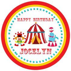 Circus Theme Birthday Tags available at www.partyexpressinvitations.com Circus Birthday Invitations, Birthday Tags, Birthday Gifts, Mickey Mouse Balloons, Unicorn Balloon, Rose Gold Balloons, Happy 1st Birthdays, Circus Theme, Gift Tags