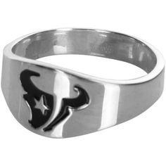 Houston Texans Logo Sterling Silver Ring