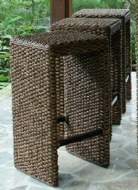 Water Hyacinth bar stools