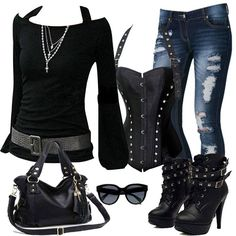 Latest Fashion Trends - This casual outfit is perfect for spring break or the summer. The Best of casual fashion in - Daily Fashion Outfits Komplette Outfits, Casual Outfits, Fashion Outfits, Womens Fashion, Hipster Outfits, Hipster Kid, Batman Outfits, Hipster Grunge, Indie Outfits