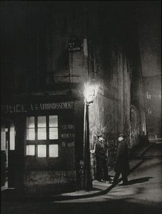 Brassai-Police Station on the corner of Rue de la Huchette and Rue du Chat-qui-Peche 1933.