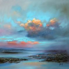 'Night View' by Scott Naismith Gel Brush Finished Gallery-Wrapped Canvas Wall Art, Ready to Hang | Overstock.com Shopping - The Best Deals on Gallery Wrapped Canvas
