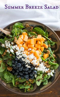 """summer breeze salad with """"granola"""" croutons 