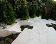 Modern Prismatic Garden Design Outdoor Landscaping, Backyard Patio, Landscape Architecture, Landscape Design, Public Space Design, Garden Stairs, Modern Pools, Modern Garden Design, Garden Features