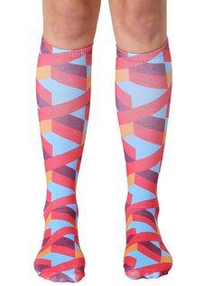 Geo 6 Knee High Socks