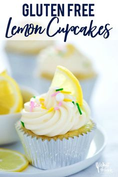 The Rise Of Private Label Brands In The Retail Meals Current Market These Gluten Free Lemon Cupcakes Are Super Easy To Make And Have The Perfect Amount Of Citrus Flavor. Lemon Cupcakes Are Great Any Time Of The Year But Are Especially Good In Late Winter, Best Dessert Recipes, Cupcake Recipes, Baking Recipes, Free Recipes, Lemon Recipes, Gf Recipes, Frosting Recipes, Sweets Recipes, Baking Ideas