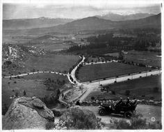Photograph of the first automobile driven up Mount Rubidoux, Riverside, California  Date: 1906