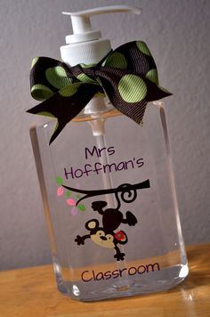 Custom Monkey Hand Sanitizer Perfect for new by MakeitStickDesigns, $7.50