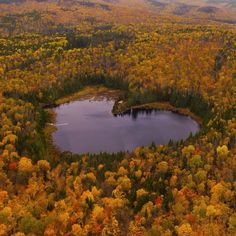 """This beautiful place really exists! A beautiful view of the autumn scenery. Aerial view of Garry Norris above heart-shaped lake """"l'Etang Baker"""" in Saint-Alexis-des-Monts, Quebec, Canada. """"This amazing heart shaped lake near Hotel Sacacomie Quebec. Beautiful World, Beautiful Places, Amazing Places, Wonderful Places, Simply Beautiful, Beautiful Flowers, Heart In Nature, Belleza Natural, Belle Photo"""