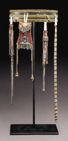 Kiowa Woman's Belt and Beaded Hide Accessories