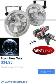 Motors Parts And Accessories: For Mustang 4 Round Super White W/ White Halo Bumper Driving Fog Light Lamp Kit BUY IT NOW ONLY: $34.95 #priceabateMotorsPartsAndAccessories OR #priceabate