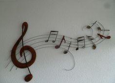muurdecoratie van metaal Music Wave - Muziek - METALEN WANDDECORATIE Washer Necklace, Jewelry, Jewlery, Bijoux, Jewerly, Jewelery, Jewels, Accessories