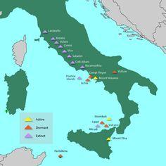 Italian volcanoes, volcanoes in italy, volcanic activity italy,  mount etna, mount vesuvius, stromboli,active, dormant, extinct volcanoes