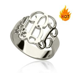 Hey, I found this really awesome Etsy listing at https://www.etsy.com/listing/242130917/2015-sterling-silver-monogram-ring