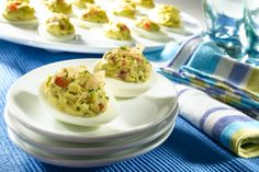 California-style Deviled eggs…for guacamole lovers! http://www.yummly.com/recipe/California-style-deviled-eggs--296777