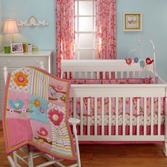 Little Birds 4pc Crib Bedding Set 353754617   Bedding Sets   Baby Bedding   Bedding   Burlington Coat Factory