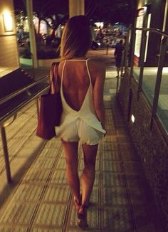 Hot summer nights: Playsuit / Romper & sandals.