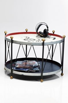 Low round coffee table Bass Drum by KARE-DESIGN