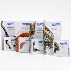 [유니더스] 애니멀 4종세트 (40p) - 버터플라이,푸시캣,펭귄,타이거 www.joynjoy.com