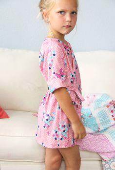free kids robe sewing pattern \ perfect bathrobe sewing pattern or pajama robe sewing pattern.