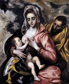 De Heilige familie, door El Greco