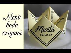 Wedding idea - Menu origami