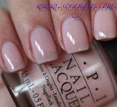 OPI You Callin' Me A Lyre?  This one is a peachy pink.  It has a little more color to it than your typical OPI Bubble Bath.