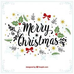 Fondo vintage decorativo de feliz navidad Vector Gratis