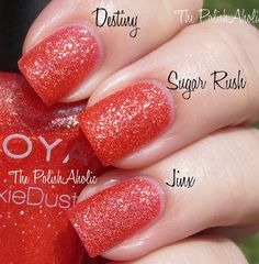 Zoya (index) Julie (middle) OPI (ring finger)