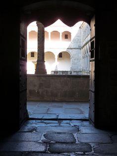 cloister entrance in Real Monasterio de Santo Tomás, Ávila