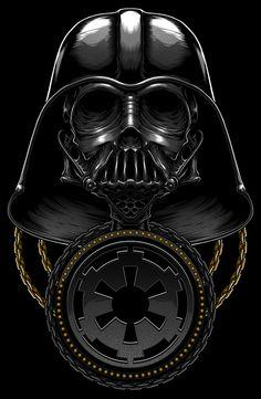 Death Side Series : Darth Vader & Shadow Stormtrooper by Charles AP, via Behance Samurai Armor, Star Wars Tattoo, Star Wars Pictures, Star Wars Wallpaper, Star Wars Fan Art, Cyberpunk Art, Science Fiction Art, Star Wars Darth, Star Wars