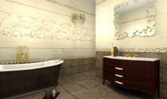 Amenajari gresie si faianta baie Italia - Traviata Tubadzin Clawfoot Bathtub, Flooring, Bathroom, Design, Poland, Italia, Washroom, Full Bath
