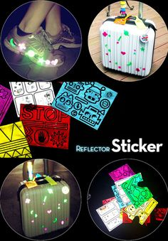 The brightest way to make your items stand out! These stickers shine by reflecting light and increase visibility! The Reflector Sticker can be used not only for decorative purposes but also for your safety!