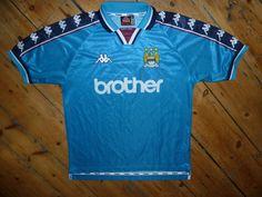 medium Manchester City football shirt KAPPA 1997/99 BROTHER soccer  jersey OASIS